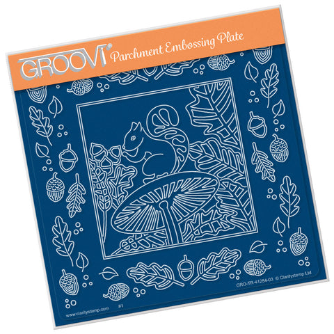 Woodland Squirrel <br/>A5 Square Groovi Plate