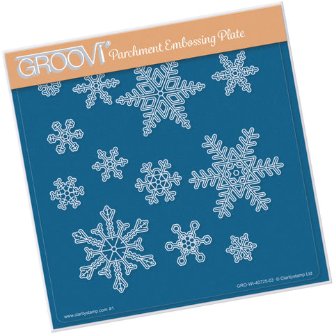 Small Snowflakes <br/> A5 Square Groovi Plate