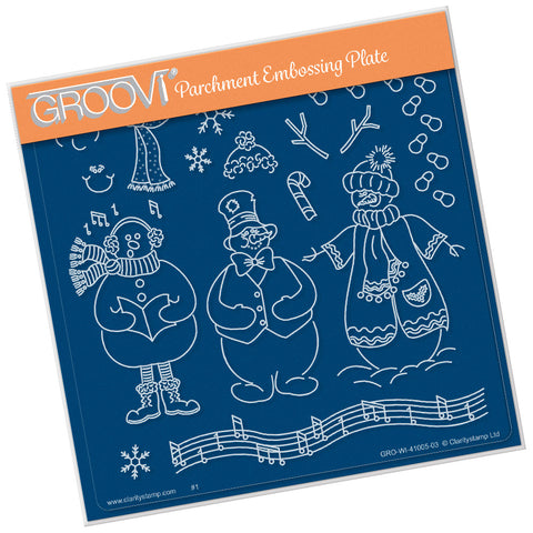 Linda Williams Snowman <br/> A5 Square Groovi Plate