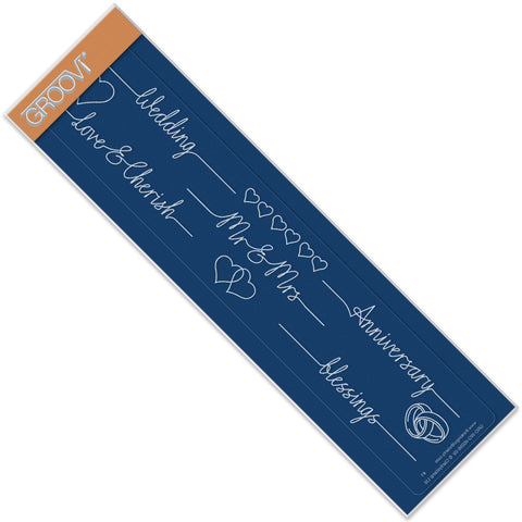 Wedding Line Sentiment Groovi® Border Plate A4