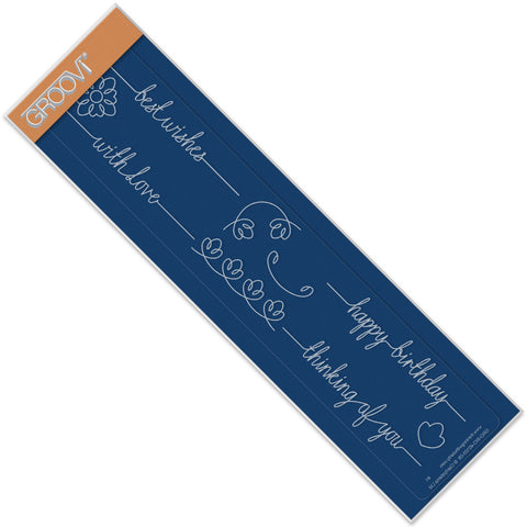 Best Wishes Line Sentiment Groovi® Border Plate A4