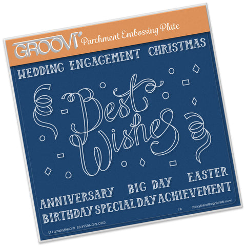 Best Wishes Groovi® Plate A5