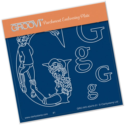 Nursery Rhyme 'G' <br/>A6 Square Groovi Baby Plate