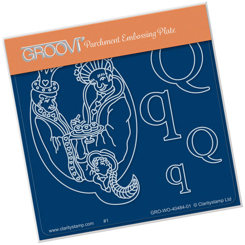 Nursery Rhyme 'Q' <br/>A6 Square Groovi Baby Plate