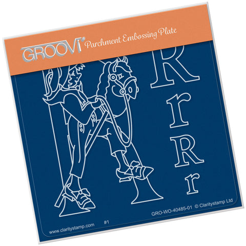 Nursery Rhyme 'R' <br/>A6 Square Groovi Baby Plate