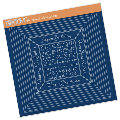 Nested Squares and Small Alphabet Frame <br/> A4 Square Groovi Plate