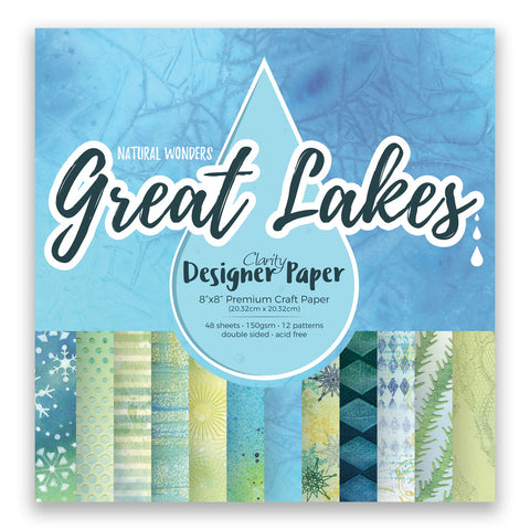 "Great Lakes <br/> 8"" x 8"" Clarity Designer Paper"