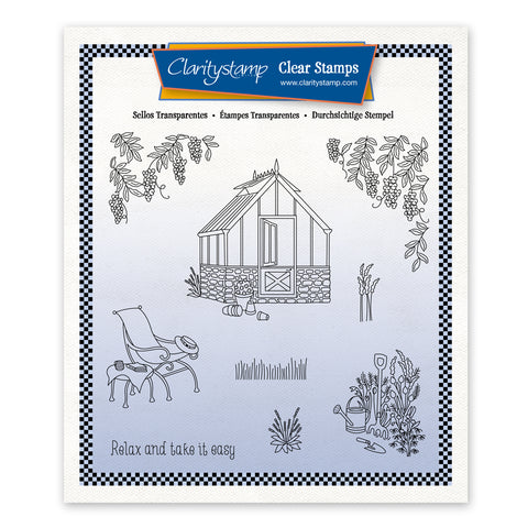 Linda's In the Garden - Greenhouse Unmounted Stamp Set + Mask (PRE-ORDER)