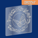 Butterfly Wreath Groovi® Plate A5