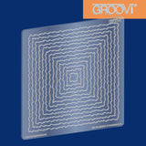 Shapes - Deckle Squares Groovi® Plate A5