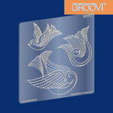 Three Doves Groovi® Plate A5