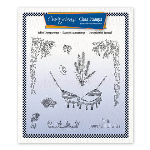 Linda's In the Garden - Hammock Unmounted Stamp Set + Mask (PRE-ORDER)