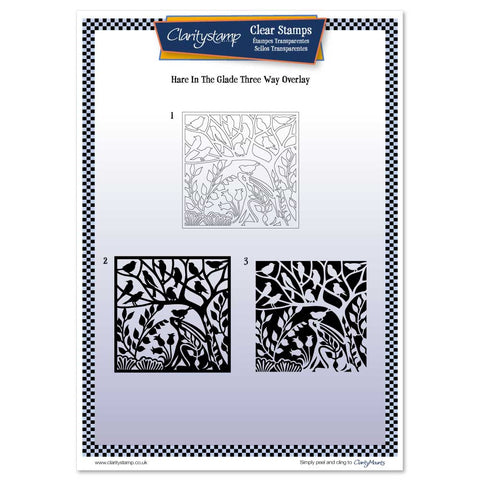 Hare in the Glade <br/> Three Way Overlay A4 Unmounted Clear Stamp Set