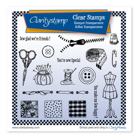 Haberdashery <br/> A5 Square Unmounted Stamp Set