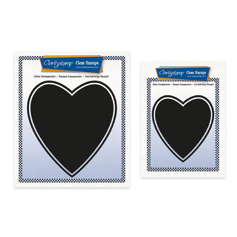 Set of 2 Heart Backdrop Stamps