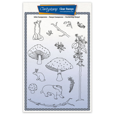 Barbara's SHAC Woodland Honeysuckle - A5 Stamp Set & Mask