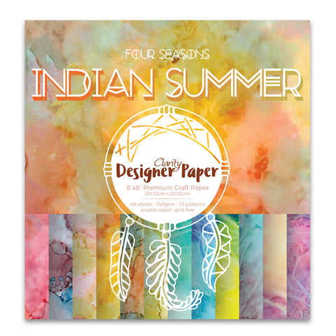 "Indian Summer <br/> 8"" x 8"" Clarity Designer Paper"