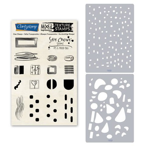 Sam Crowe's It's a Mixed Bag - Assorted <br/> Stamp & Stencil Set