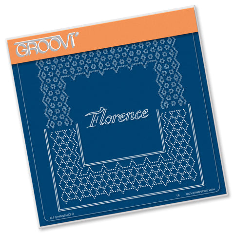 Italian Cities Diagonal Lace Grid Duets - Florence A5 Square Groovi Plate