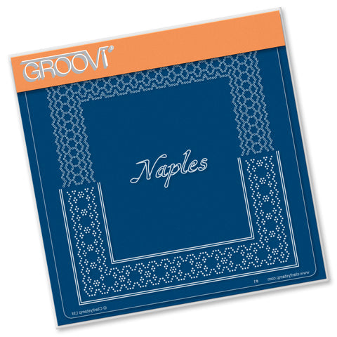 Italian Cities Diagonal Lace Grid Duets - Naples A5 Square Groovi Plate