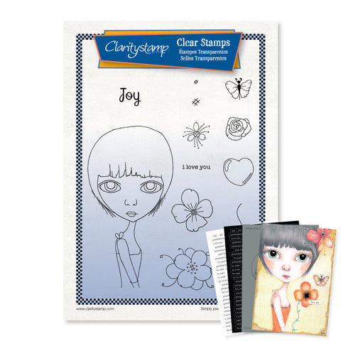 Dee's Friends - Joy + Mask <br/> A4 Unmounted Stamp Set <br/>