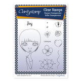 Dee's Friends + Mask - Joy <br/> A5 Unmounted Stamp Set <br/>