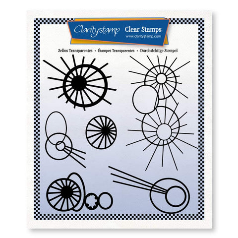 Leonie's Altered Bursts <br/> A5 Square Stamp Set