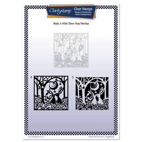 Make a Wish <br/> Three Way Overlay A4 Unmounted Clear Stamp Set