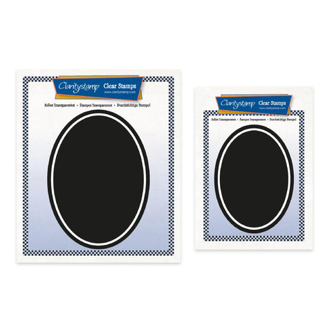 Set of 2 Oval Backdrop Stamps