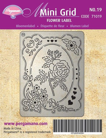 Mini Grid 19 Flower Label (71019)
