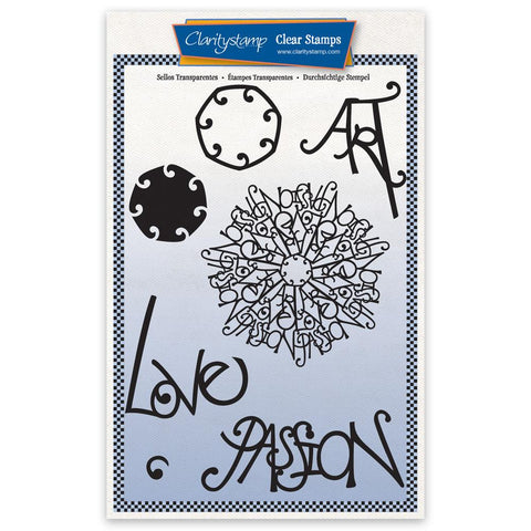 Barbara's Passion Doodle Round A5 Unmounted Stamp Set