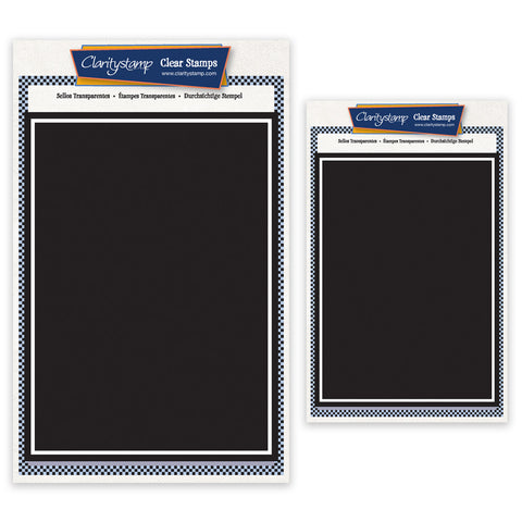 Set of 2 Rectangle Backdrop Stamps