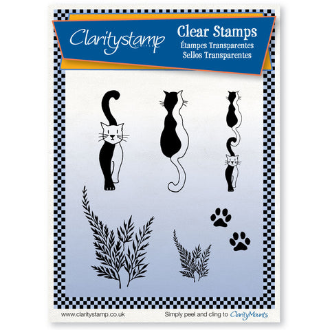 Entwined Cats Stamp Set