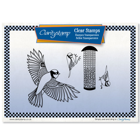 Garden Birds & Feeder Stamp and Mask Kit