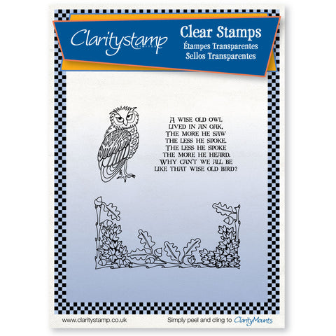 Owl & Oak <br/> Unmounted Clear Stamp Set