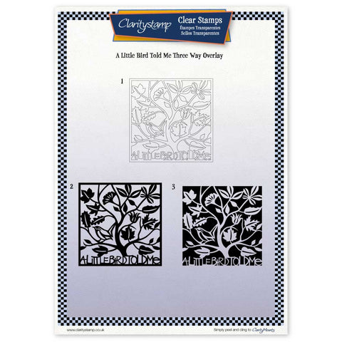 A Little Bird Told Me <br/> Three Way Overlay <br/> A4 Unmounted Stamp Set