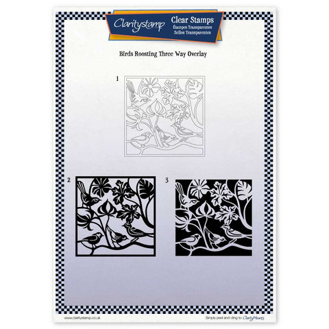 Birds Roosting <br/> Three Way Overlay <br/> A4 Unmounted Stamp Set