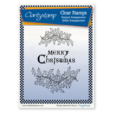 Holly & Ivy - Unmounted Clear Stamp Set A5