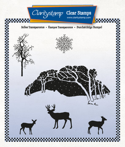 Winter Wonderland A5 Square Unmounted Stamp Set