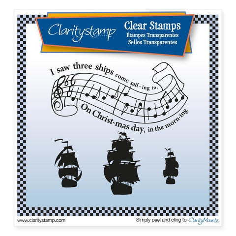 I Saw Three Ships <br/> Unmounted Clear Stamp Set