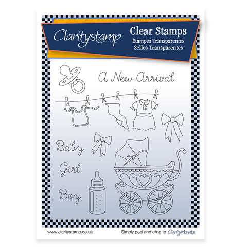 New Arrival + MASK <br/>Unmounted Clear Stamp Set