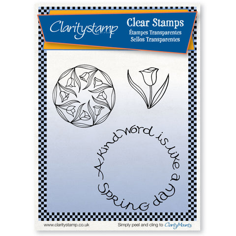 Spring Day Stamp Set (x3) <br/> Unmounted Clear Stamp Set