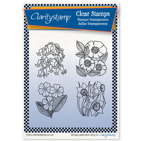 Flower Boxes Unmounted Clear Stamp Set