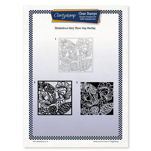 Thistledown Fairy <br/> Three Way Overlay <br/> A4 Unmounted Stamp Set
