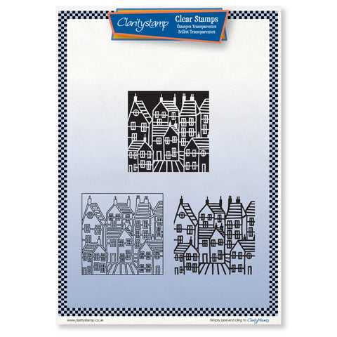 Townhouse Three Way Overlay <br/> Unmounted Clear Stamp Set