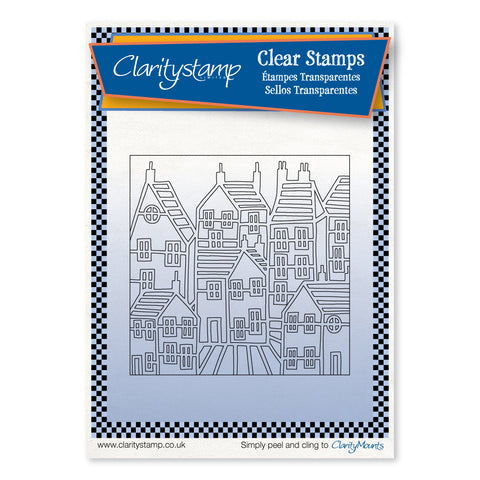 Townhouse Outline + Mask <br/> Unmounted Clear Stamp Set