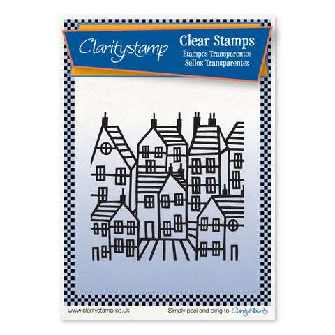 Townhouse Positive + Mask <br/> Unmounted Clear Stamp Set