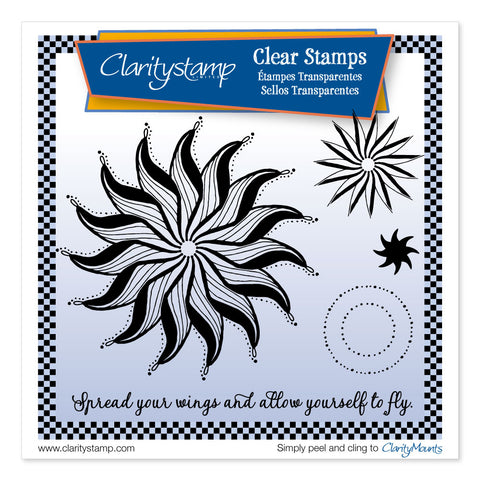 Leonie's Wings Circus <br/> A5 Sq Unmounted Clear Stamp Set