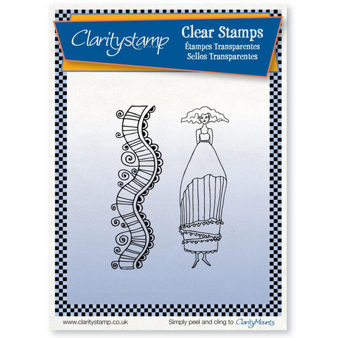 Annabel + Mask <br/> A5 Unmounted Clear Stamp Set