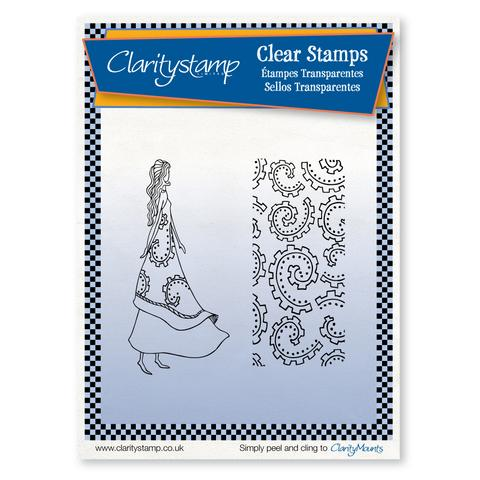 Rosie + Mask <br/> A5 Unmounted Clear Stamp Set